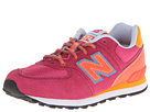 New Balance Kids KL574 Little Kid Pink, Orange Shoes