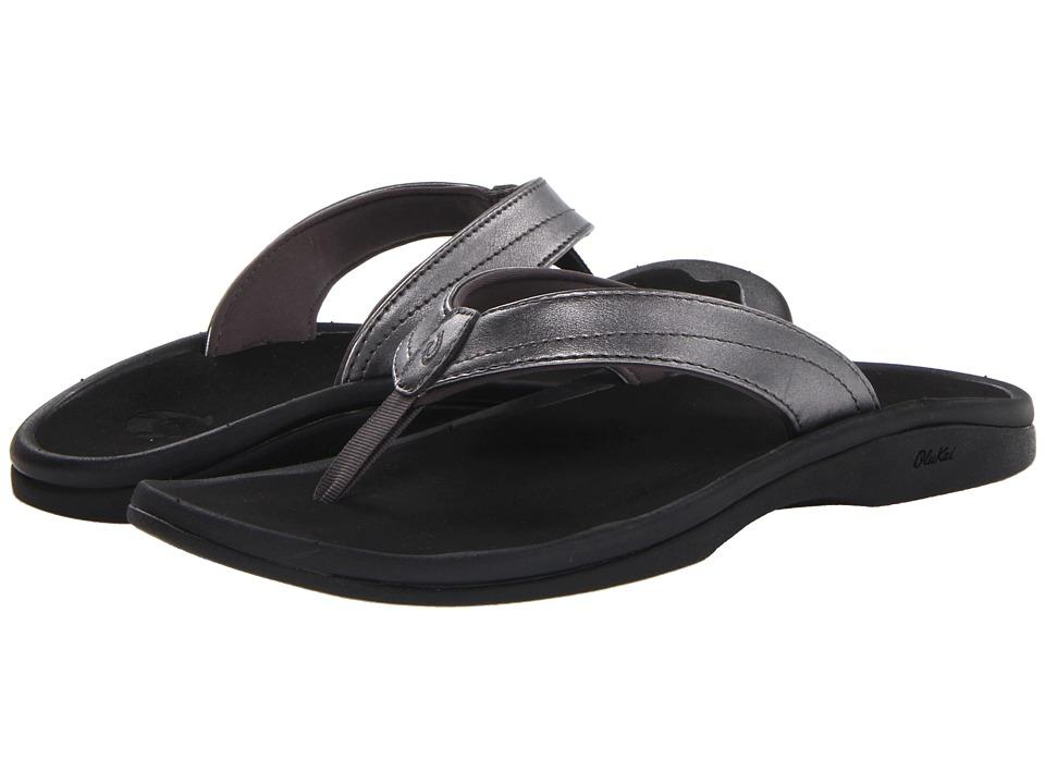 OluKai Ohana W (Pewter/Black) Sandals