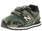 New Balance Kids KV574 Toddler Army Olive, Green Shoes