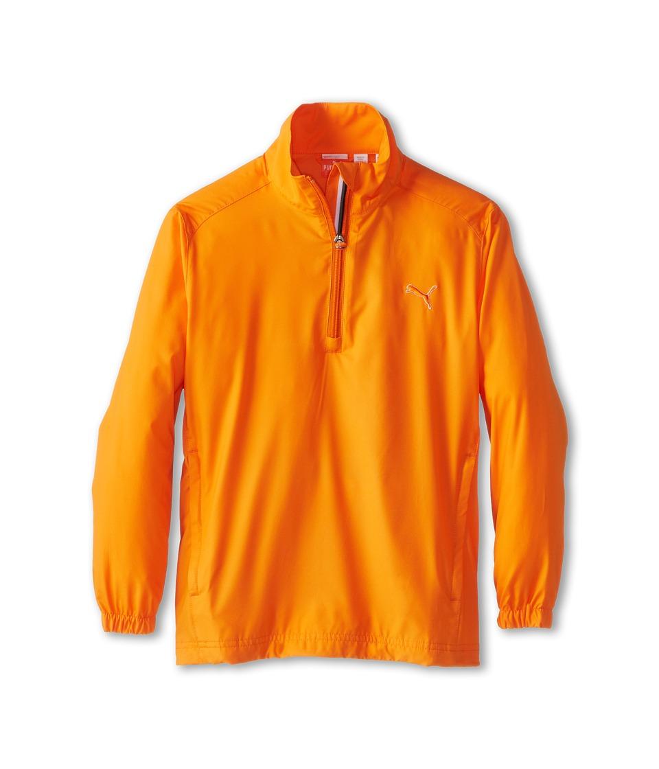 PUMA Golf Kids Half Zip Wind Jacket Big Kids Vibrant Orange Boys Coat