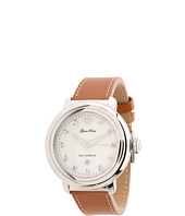 Glam Rock - 40mm Stainless Steel Watch with Diamond Indexes and Brown Leather Strap - GR77016