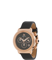 Glam Rock - 40mm Rose Gold Plated Chronograph Watch with Black Technosilk Strap - GR77114