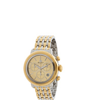 Glam Rock - 40mm Two-Tone Gold Plated Chronograph Watch with 7-Link Two-tone Bracelet - GR77117