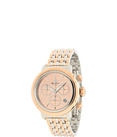Glam Rock - 40mm Two-Tone Rose Gold Plated Chronograph Watch with 7-Link Two-Tone Bracelet - GR77118