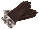 LAUREN Ralph Lauren - Houndstooth Belted Glove (Brown Houndstooth/Coffee)