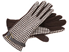 LAUREN Ralph Lauren - Houndstooth D-Ring Glove (Brown Houndstooth/Coffee)