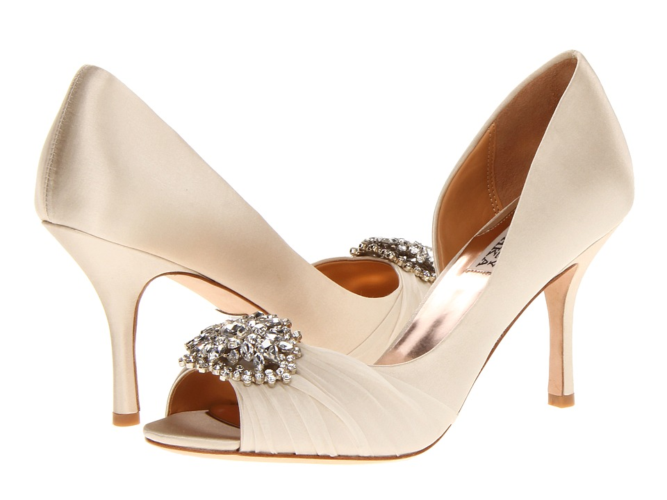 Badgley Mischka Pearson Vanilla Satin High Heels