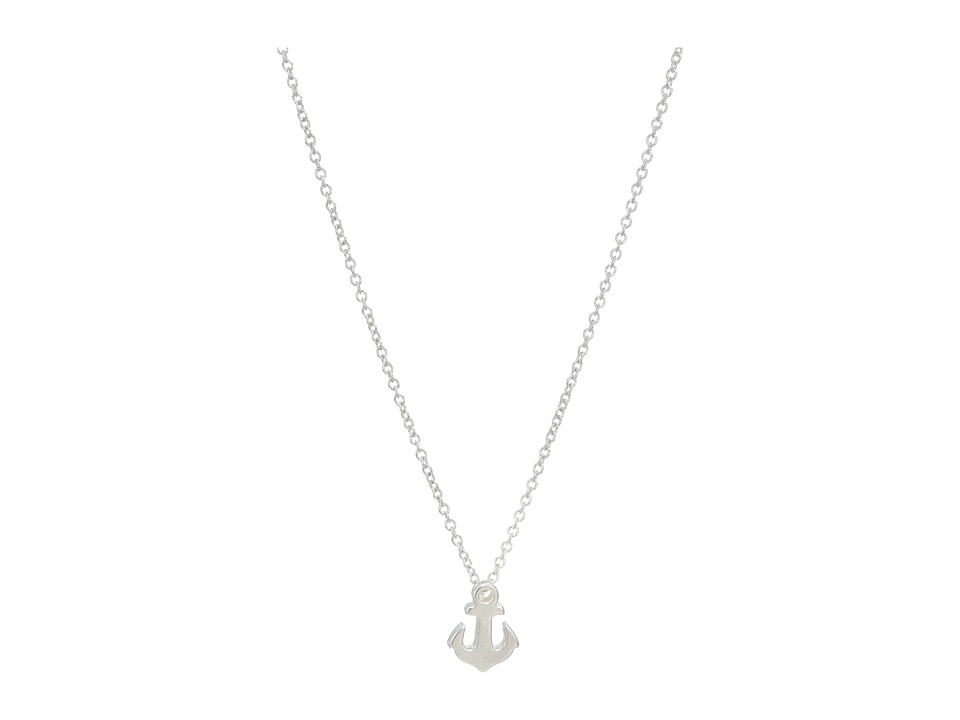 Dogeared - Friendship Anchor Reminder Necklace (Sterling Silver) Necklace
