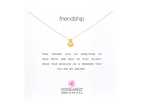 Dogeared Friendship Anchor Reminder Necklace - Gold