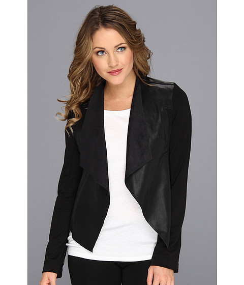 Kut From The Kloth Faux Leather Drape Jacket Zappos Com