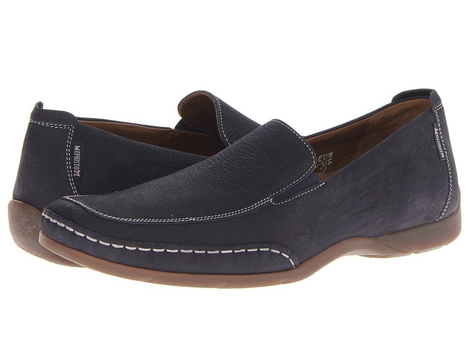 Mephisto - Edlef (Navy Sportbuck) Mens Slip on  Shoes