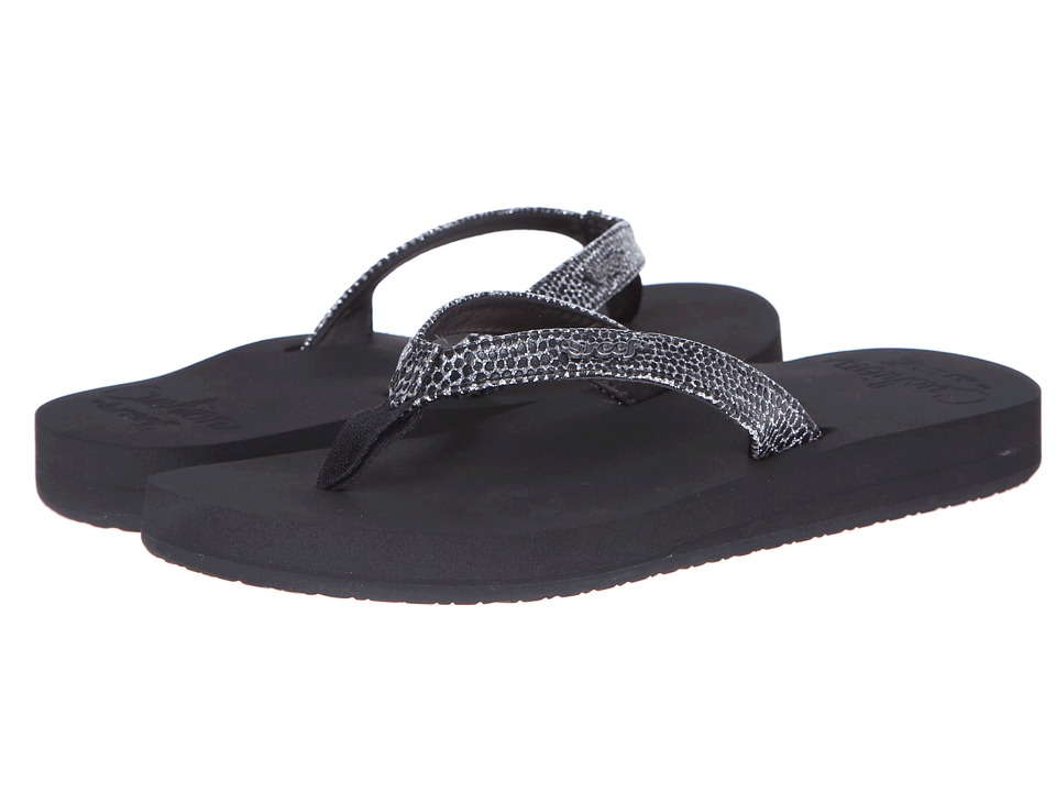 Reef - Star Cushion Sassy (Black/Silver) Women's Sandals