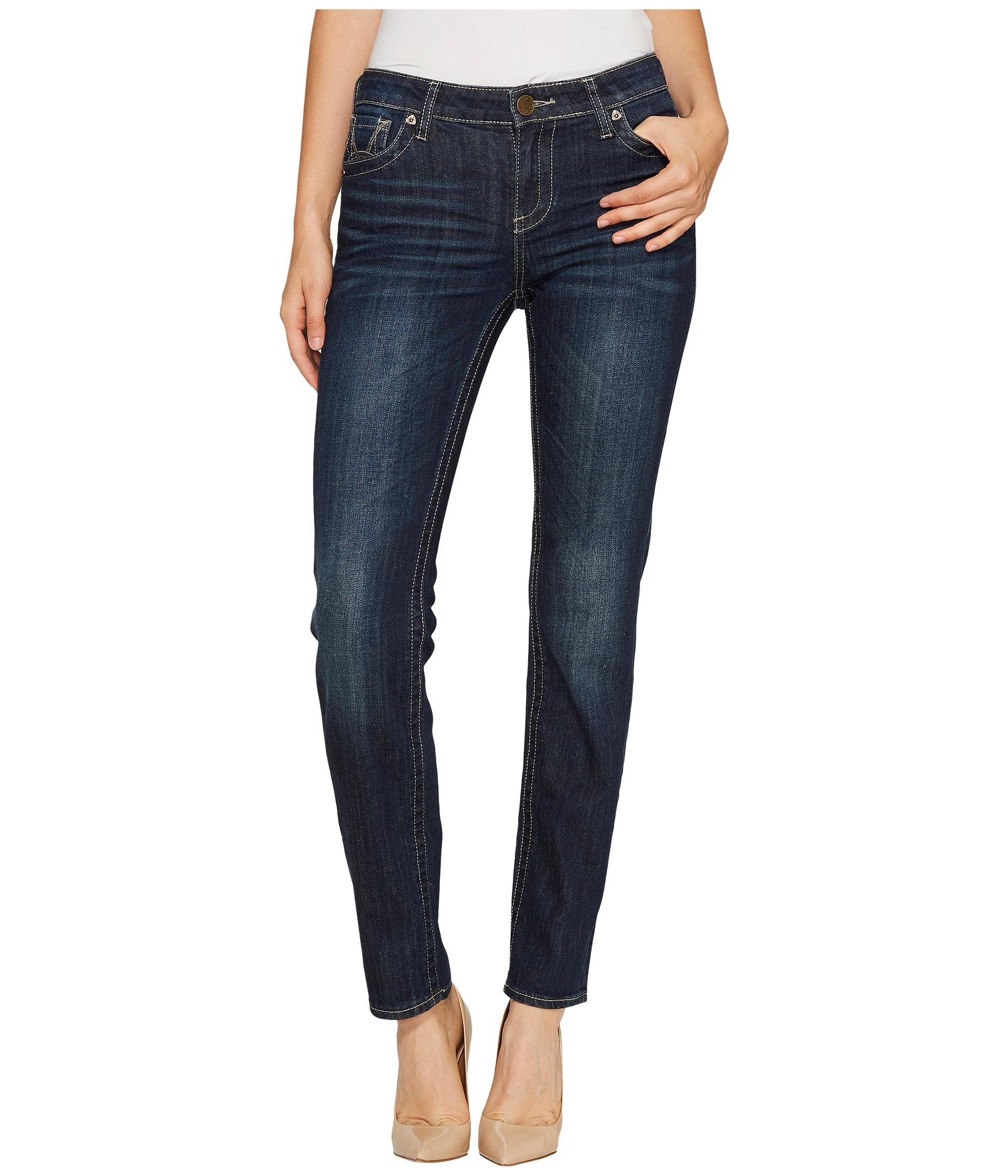 Womens Grey Straight Leg Jeans