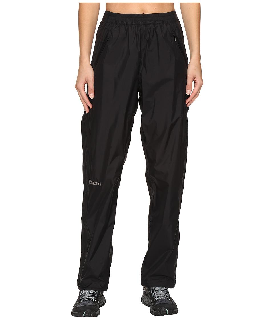Marmot - Precip Full Zip Pant (Black) Womens Clothing