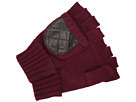 LAUREN Ralph Lauren - Quilted Nappa Glove (Winter Burgundy/Dark Brown)