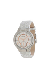 Philip Stein - Small Round Stainless Steel Diamond Watch on Silver Metallic Calf Strap