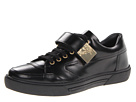 Versace Collection - Patent Sneaker W/ Gold Strap (Black) - Footwear