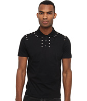 Versace Collection - Short Sleeve Polo With Stud