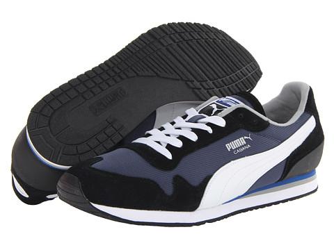 PUMA - Cabana Mesh Sport (Black/White/Insignia Blue/Lime) - Footwear