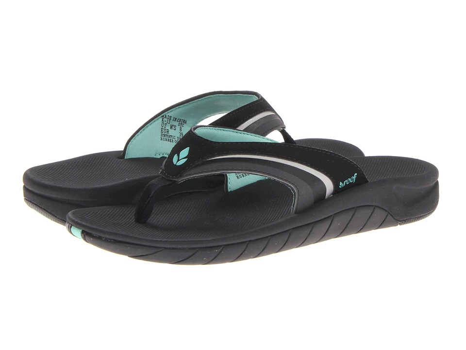 Reef - Slap 3 (Black/Black/Aqua) Women's Sandals