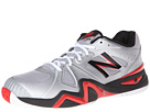 New Balance MC1296 Silver, Red Shoes