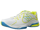 New Balance WC786 White, Yellow Shoes
