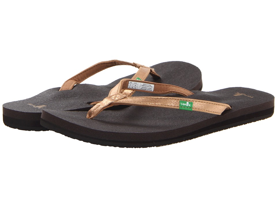 Sanuk - Yoga Joy Metallic (Rose Gold) Women's Sandals