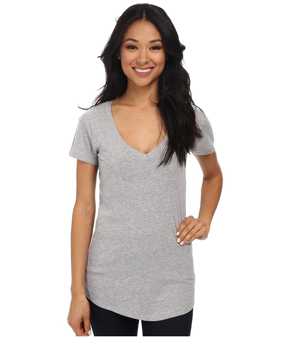 LA Made V-Pocket Tee - Tissue Jersey (Heather Grey) Women...