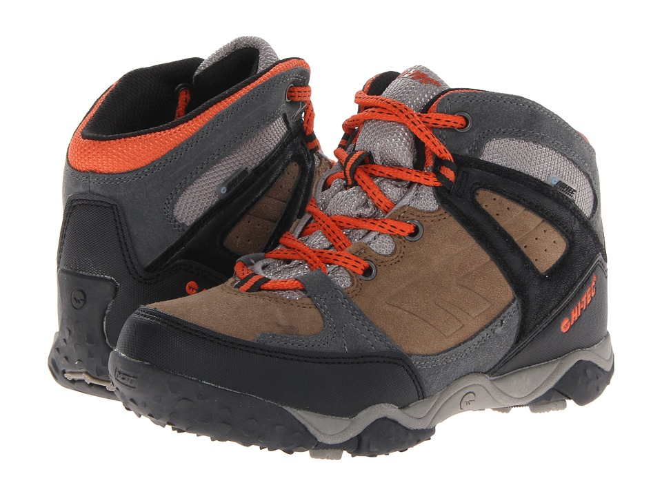 Hi Tec Kids Tucano WP Jr Toddler/Little Kid/Big Kid Desert/Black/Tangelo Boys Shoes