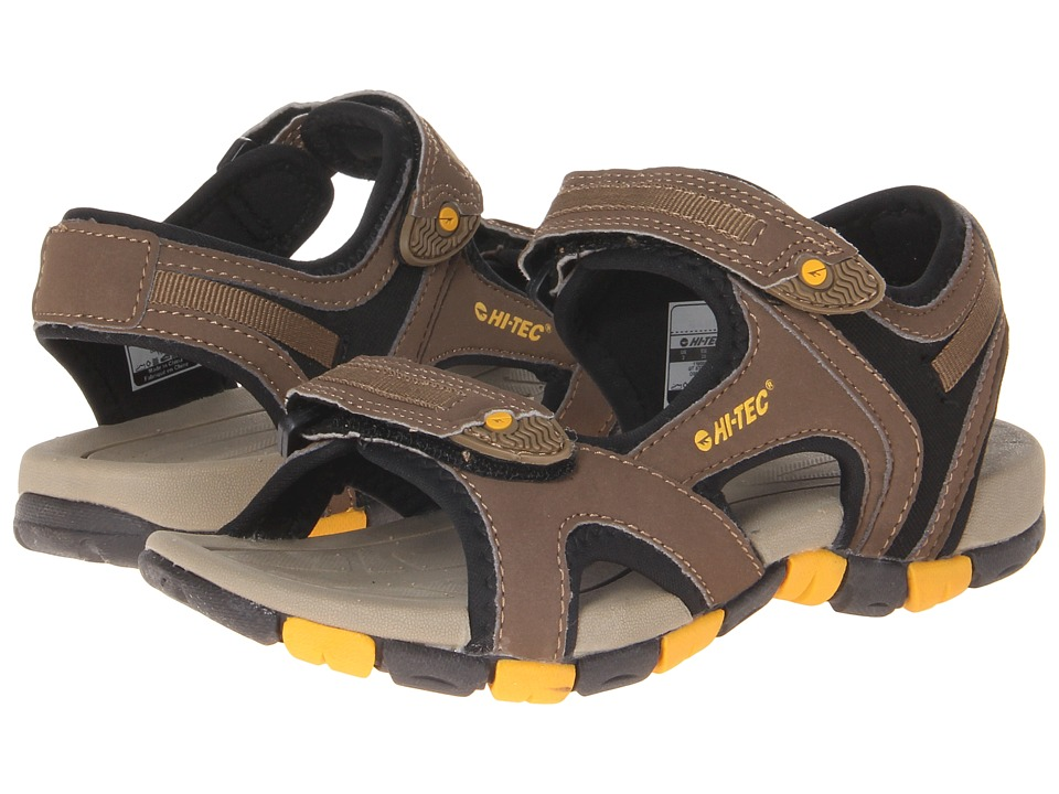 Hi Tec Kids GT Strap Jr Toddler/Little Kid/Big Kid Smokey Brown/Taupe/Gold Boys Shoes