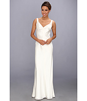 ABS Allen Schwartz - Sleeveless V-Neck Gown With Embellished Back