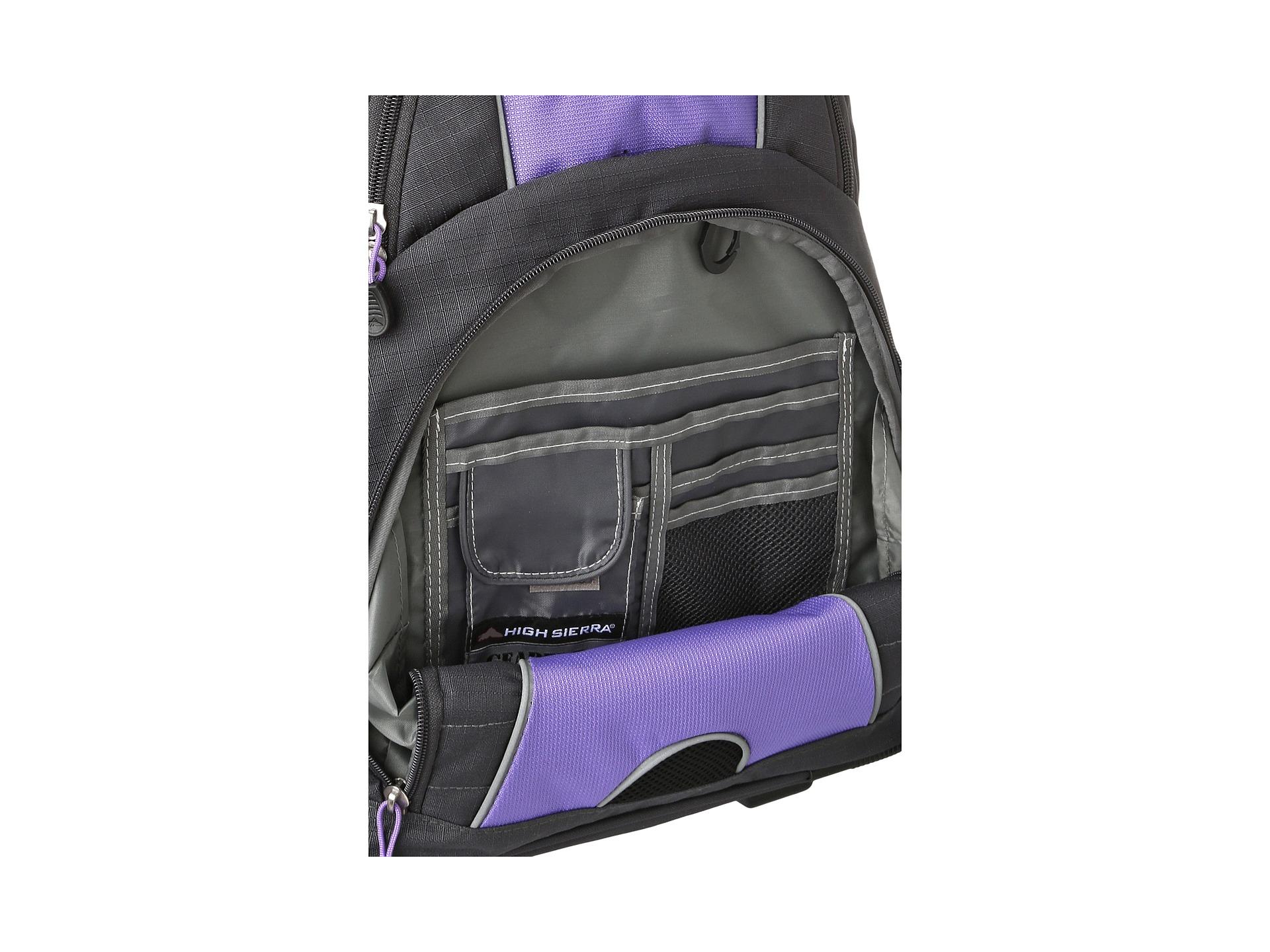 7750ee7648a High Sierra Freewheel Wheeled Backpack Deep Purple Basket Weave