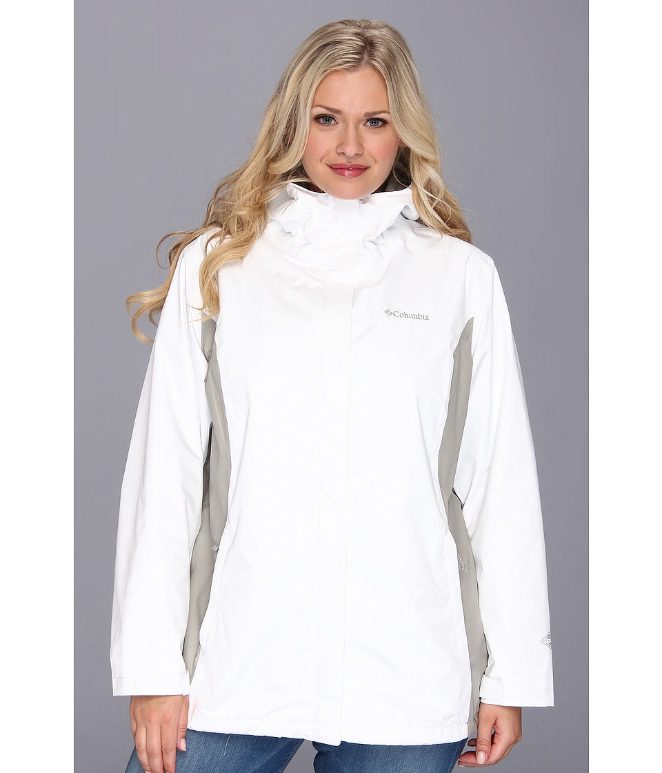 Columbia Plus Size Arcadia IItm Jacket (White/Flint Grey) Women