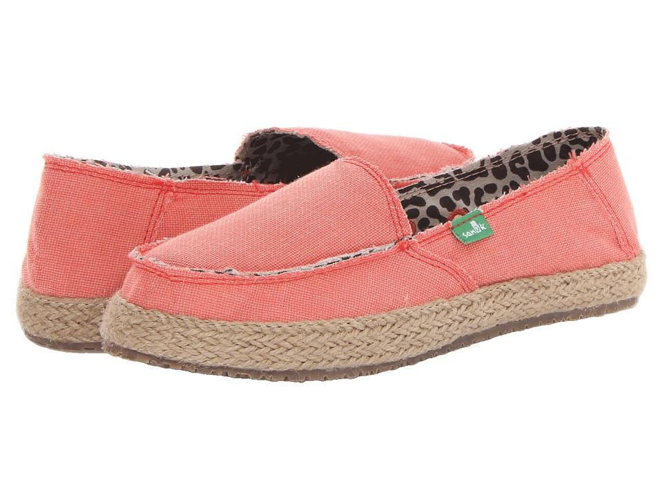 Sanuk Fiona Coral Womens Slip on Shoes