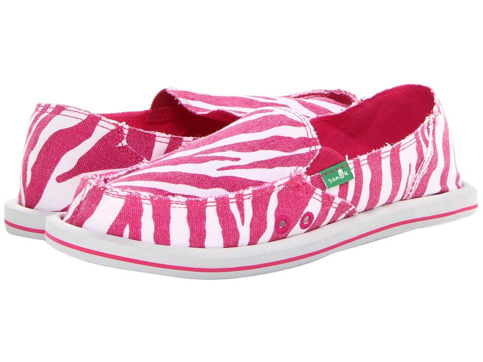 Shop Sanuk online and buy Sanuk I'm Game Fuchsia Zebra Women's Slip on  Shoes online