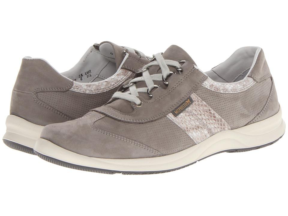 Mephisto Laser Perfore (Light Grey Bucksoft/Light Sand Boa) Women's Shoes