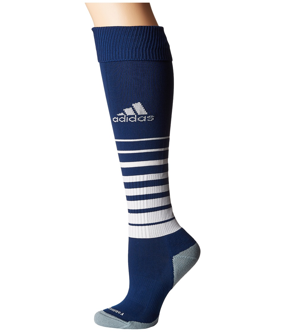 adidas Kids - Team Speed Soccer Sock (Little Kid/Big Kid) (New Navy/White 3) Kids Shoes