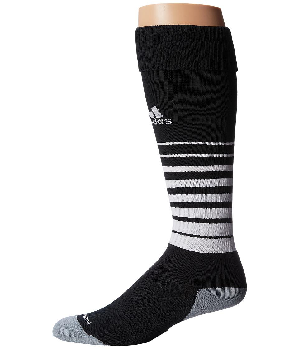 adidas Kids Team Speed Soccer Sock (Little Kid/Big Kid) (Black/White) Kids Shoes
