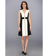 Calvin Klein - V-Neck Lux Colorblock Dress