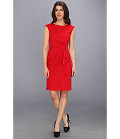 Calvin Klein - Lux Cap Sleeve Ruffle Front Dress