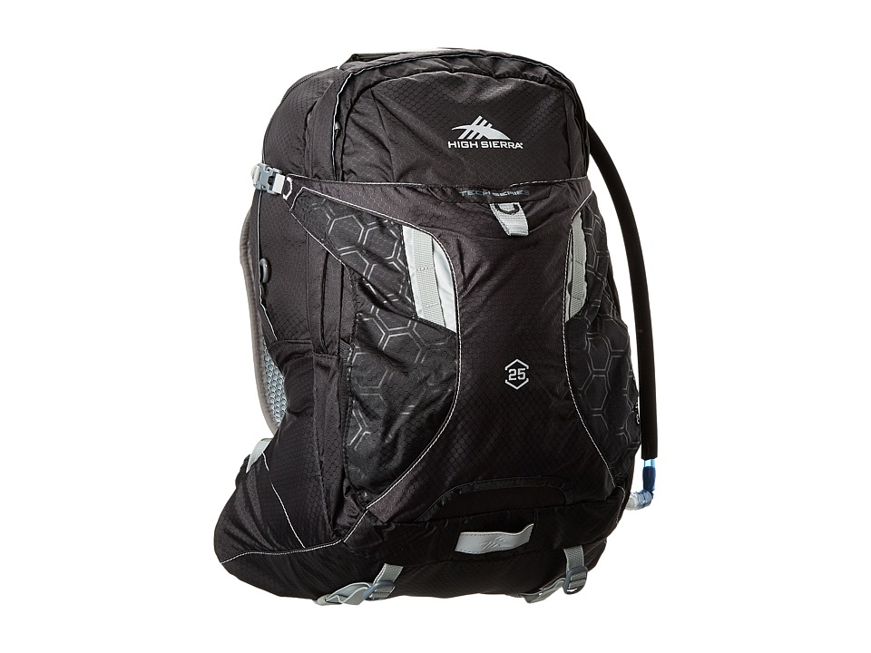High Sierra - Riptide 25L Hydration Pack (Black/Silver) Backpack Bags