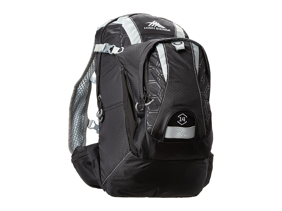 High Sierra - Wahoo 14L Hydration Pack (Black/Silver) Backpack Bags