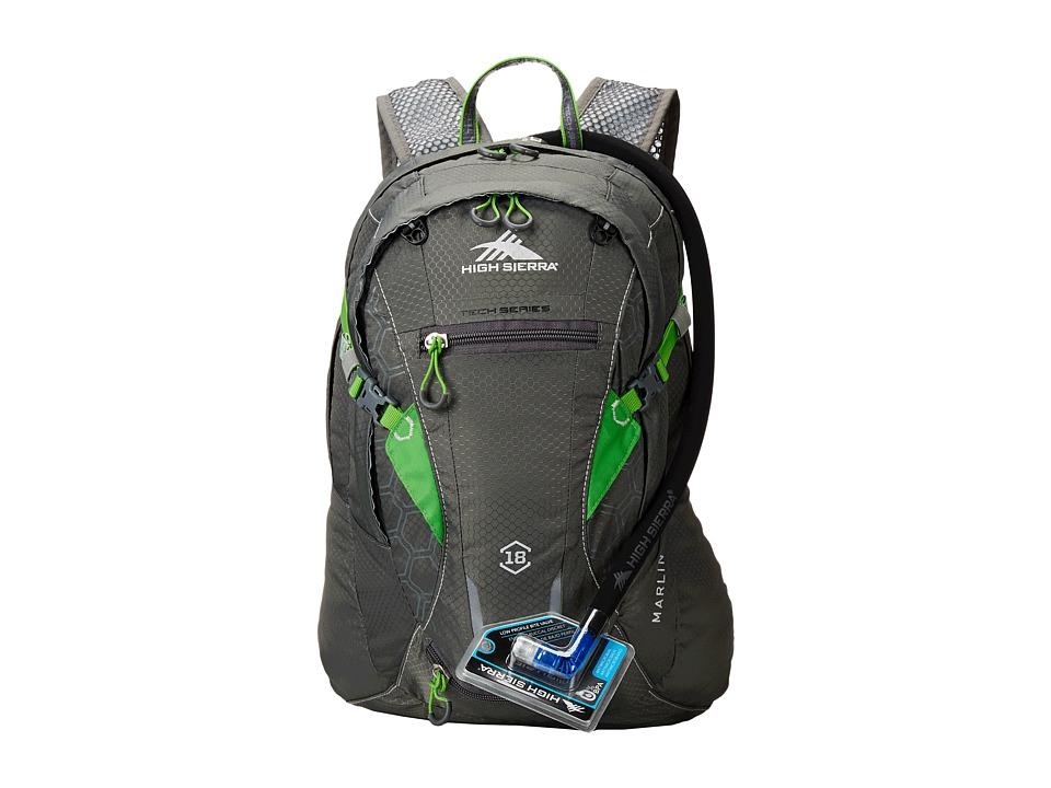 High Sierra Marlin 18L Hydration Pack Charcoal/Kelly Luggage