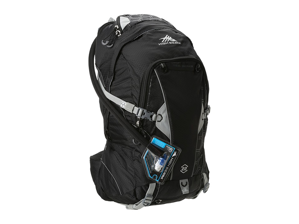 High Sierra Moray 22L Hydration Pack Black/Silver Luggage