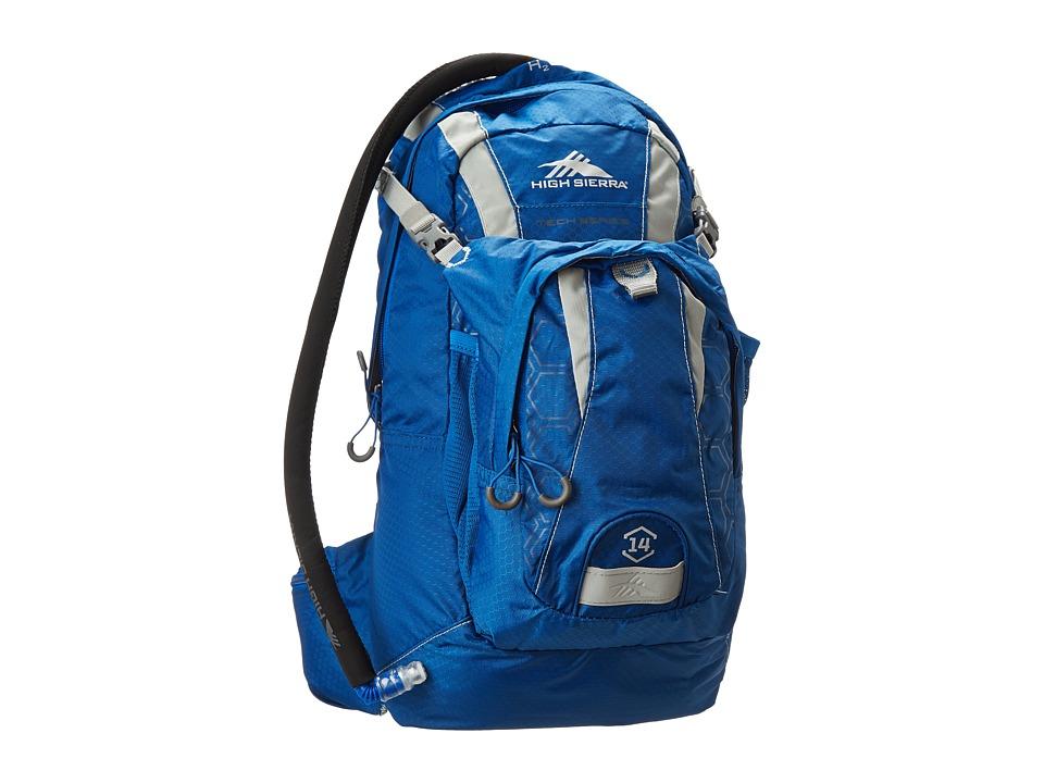 High Sierra Wahoo 14L Hydration Pack Royal Cobalt/Silver Backpack Bags