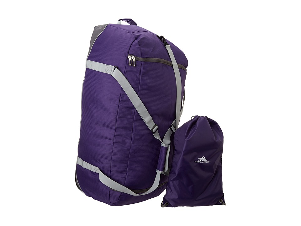 High Sierra 36 Wheel n Go Duffel Deep Purple/Charcoal Duffel Bags