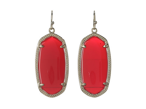 Kendra Scott Elle Earring - Gold/Bright Red/Opaque Glass