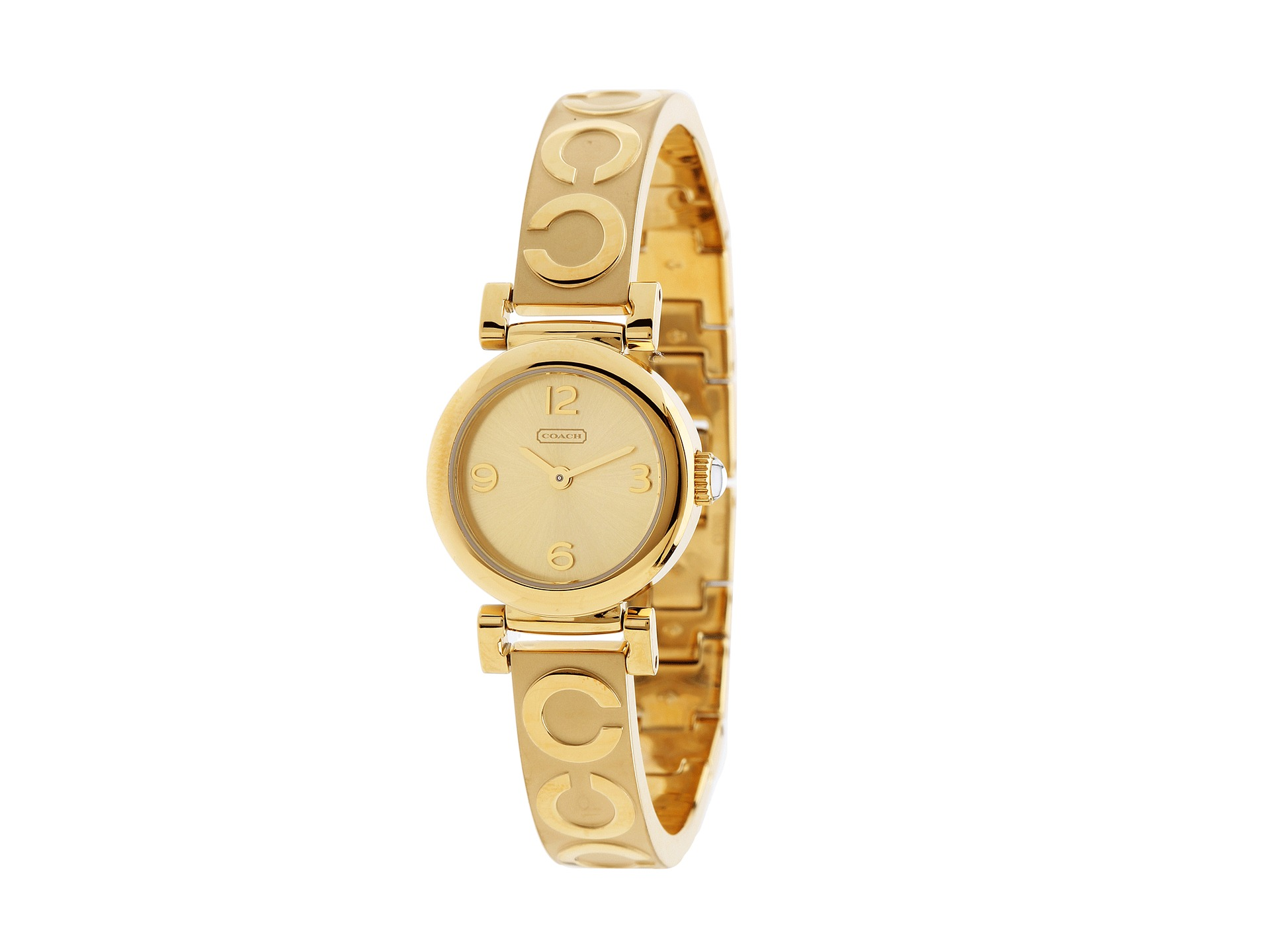 coach fashion bracelet gold shipped free
