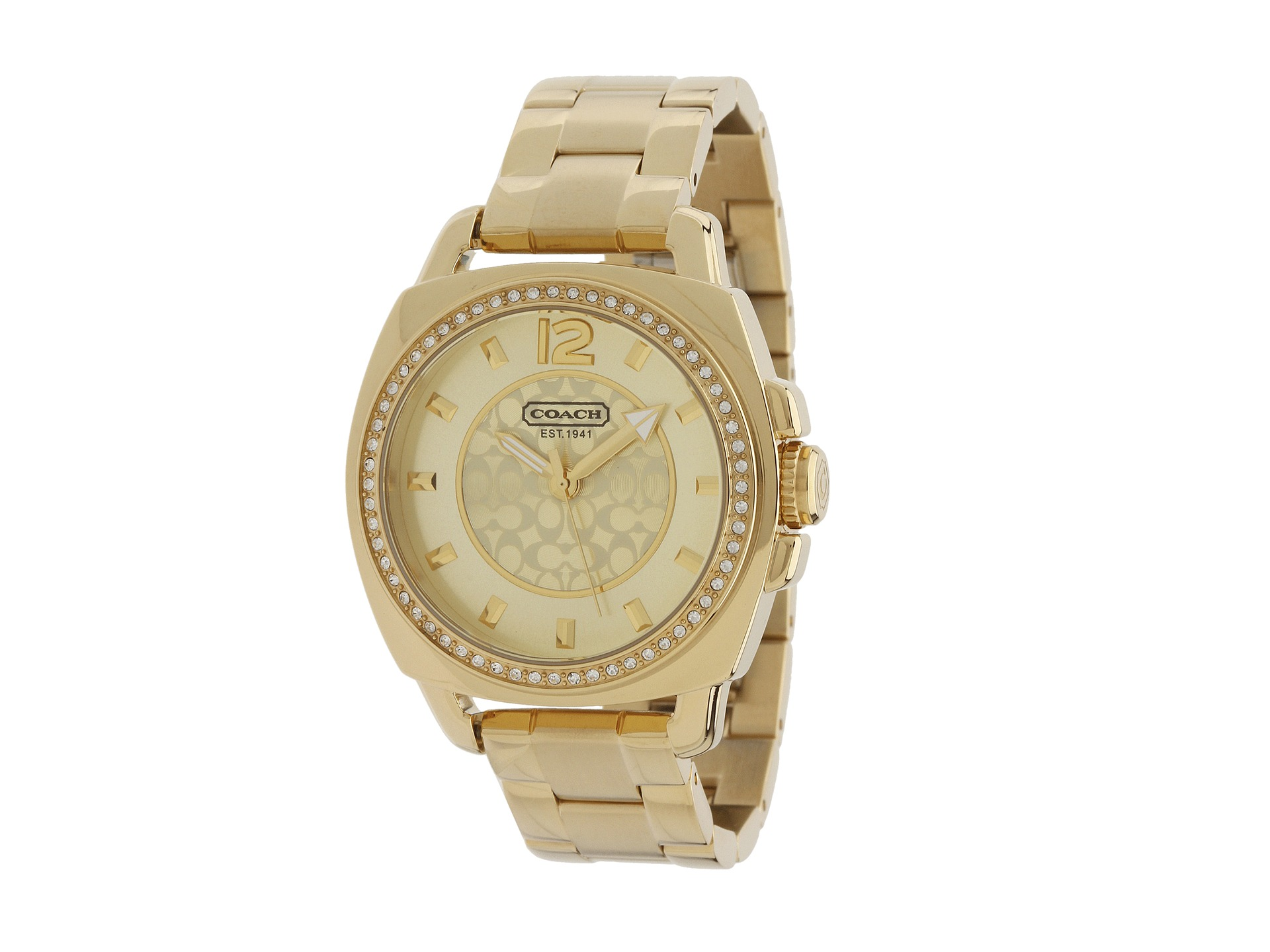 coach boyfriend gold plated bracelet shipped free