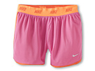 Nike Kids - Sport Mesh Short 4 (Little Kids/Big Kids) (Red Violet/Turf Orange/Light Base Grey) - Apparel